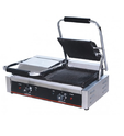 Silver And Black Stainless Steel Double Sandwich Griller MB-813