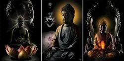 3 Pcs Home Decor MDF Gift Box Set of Three Buddha