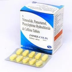 Nimesulide 100mg PCM 325mg Phenylpherine 10mg & Caffeine 25mg Tablets