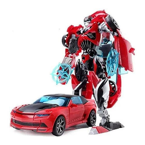 Elegant Red Transformer Sports Car