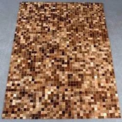 Printed Rectangular Leather Carpet for Home