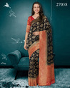Invigorating Banarasi Silk Embroidered Party Wear Saree