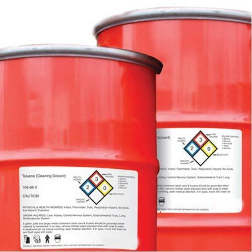 AVERY DENNISON Chromo paper Chemical Drum Barcode Label, Packaging Type: Roll