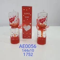 Valentine Glass Gift, Packaging Type: Box