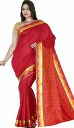 Party Wear Body Jugard Polysilk Sarees, 6.3 m (with blouse piece)
