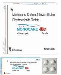 MONOCARE LC Montelukast Levocetirizine Dihydrochloride Tablets, Packaging Type: Alu Alu, Packaging Size: 10X1X10