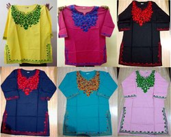 Rayon Casual Wear Embroidered Kurti, Wash Care: Machine wash