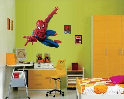 Multicolor Multiple Decor Kafe Decal Style Spiderman Wall Sticker ...
