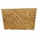 Rectangular Sandstone Mural