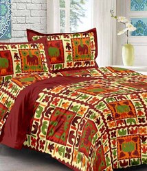 Floral Printed Double Bed Sheet