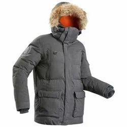 Decathlon Parka 100 Size l Black Men Arctic Trekking Jacket