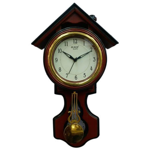 wall clock finish wood pendulum case solid com mahogany watches ac amazon seiko dp