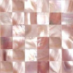 Divian Pink Mother Of Pearl Tiles, Thickness: 6 - 8 mm
