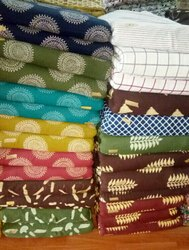 Cotton Slub Printed Fabric