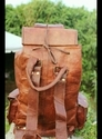 Vintage Leather Backpack, Handmade Shoulder Bag