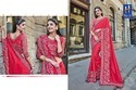 Party Wear Border Designer Embroidered Georgette Saree, With Blouse Piece, 5.5 M (separate Blouse Piece)