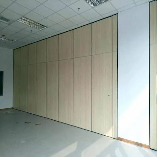 Polished Sliding Dorma Partition Wall Mounting Door Double Part For Commercial