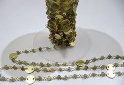 Labradorite Coin Chain