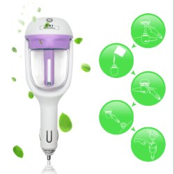 Tech Gear Car Humidifier Mini Charging Portable Water Bottle Steam Humidifier Air Mist Diffuser