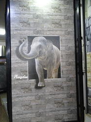 Elephant Wall Photo Tile