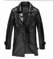 Full Sleeve Black Mens Leather Jacket MSG 0012