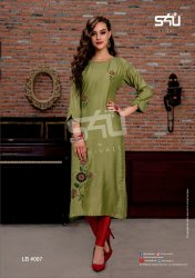 Silk Party Wear S4u Kurtis