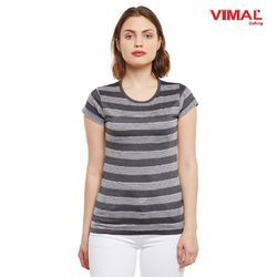 Vimal Clothing Half Sleeves Vimal Women Striped Tops