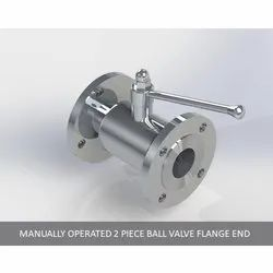 Manually Operated 2 Piece Ball Valve Flange End