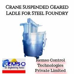Crane Suspended Geared Ladle For Steel Foundry