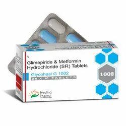 Glycoheal G 1002 - Glimepride 2mg   Metformin 1000mg SR D/L