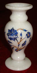 Marble Flower Vase With Beautiful Inlay Work