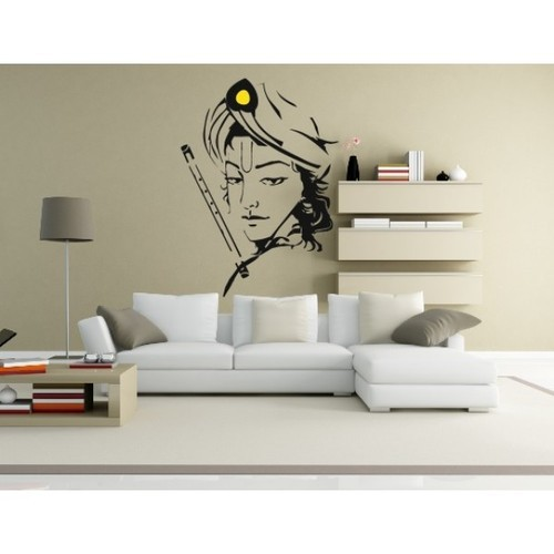 multicolor printed lord krishna wall sticker, rs 185 /square feet