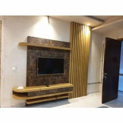 Satyamsales Wall Mounted Wooden Designer Led Tv Cabinet Rs 1050 Square Feet Id 21208779862