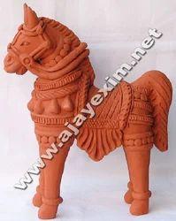 Clay Antique Horse Model