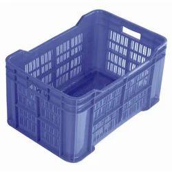Blue Rectangular Fabricated Plastic Crates CC857425, Capacity: 183 L