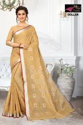 Dollar Cream Pure Lilan Cotton Saree