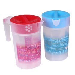 1 Litre Round Printed Plastic Water Jug