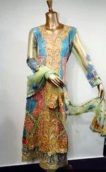 Wedding Wear Multi Colour Suit