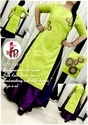 Designer Double Layer Silk Kurti With Heavy Embroidery