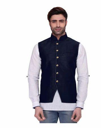 b21cd2efb7fa Men's Sleeveless Nehru Jacket, Mens Koti, Modi Jacket, नेहरू ...