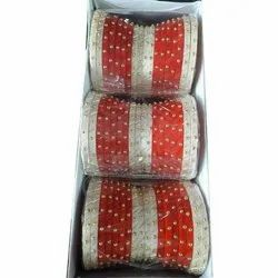 Red And White Plastic Rajputi Bridal Chura, Packaging Type: Box