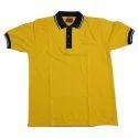 Plain Yellow School Uniform Cotton Shirts