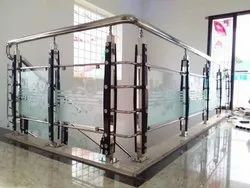 Spiral SS316 Glass Staircase, for Residential