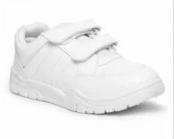 Paragon Boys White School Shoes