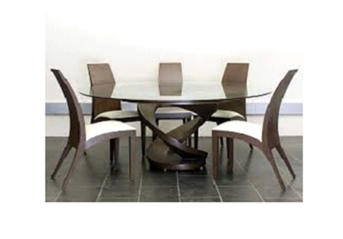 Light Brown Wooden Seater Dining Table MK Group ID - 5 seater dining table