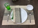 Cotton Placemats Woven Rib Placemats, Size: 13