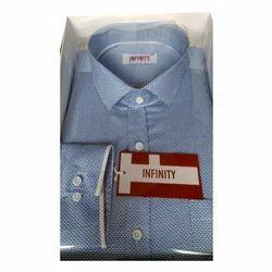 Blue Mens Designer Shirt