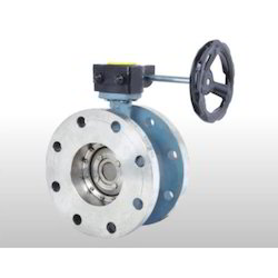 Off Set Disc Double Flange Butterfly Valve
