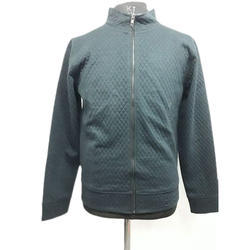 Mens Quilted Zipper Sweatshirt
