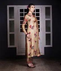 Regular Wear Skin Ladies Soft Silk Unstitched Suits